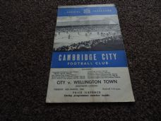 Cambridge City v Wellington Town, 1964/65